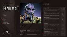 Feng Mao stats