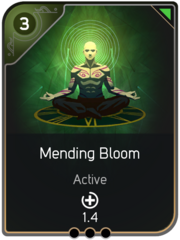 Mending Bloom card