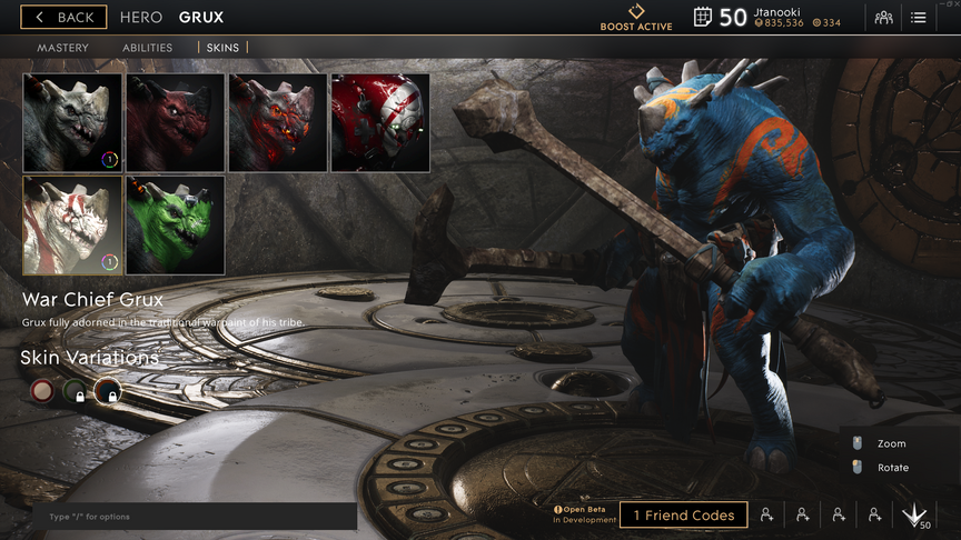 Grux Cobalt War Chief skin