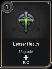 Lesser Health card