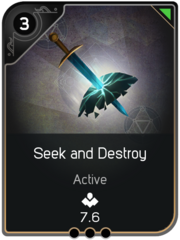 Seek and Destroy card