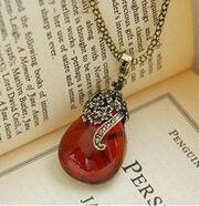 Wholesale ancient flavor Engraving Flower Necklace dropping blood pendant Unique.jpg 200x200