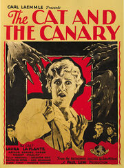 Cat and canary 1927 poster 01.review