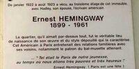 Hemingway (74 Cardinal Lemoine)