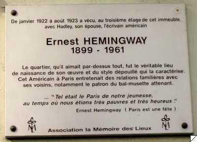 Fichier:Plq Hemingway Lemoine.jpg