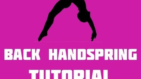 How to do a back handspring tutorial Part 2