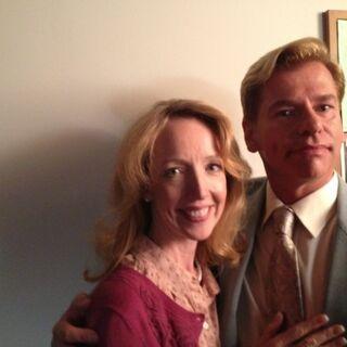 Darlene Hunt andd Todd Sherry on set.