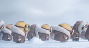 Minions in the snow