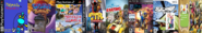 Thomas Brain Games, Ten Cents 4, Arnold and Courage 4, Theodore Team Racing, Little Big Planet Karting, Sly Simpson 4, SSX Blur, and Bart Simpson 4.