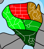 Kizenia Districts