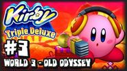 Kirby Triple Deluxe 3DS - (1080p) Part 3 - World 3 Old Odyssey