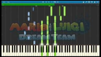 Mario and Luigi Dream Team - The Final Antasma Battle Piano Arrangement (Synthesia)
