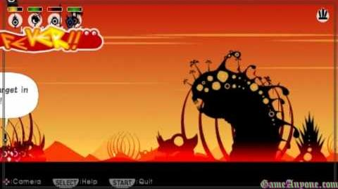 Let's Play Patapon - Mission 11 - Giant Beast of the Deplorable Desert
