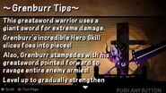 Grenburr tip card