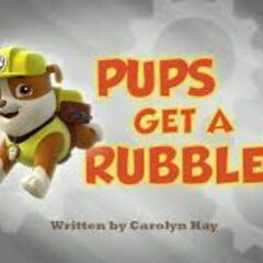 Pups Get A Rubble Title Card