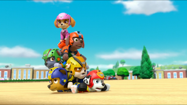 File:PAW Patrol Air Pups Marshall Rubble Chase Rocky Zuma Skye.png