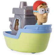 PAW Patrol Cap'n Turbot Captain Turbot in the Flounder Boat Toy Figure Rescue Racers 1