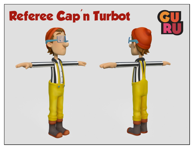 File:PAW Patrol Referee Cap'n Turbot Captain Pups Save a Basketball Game.png