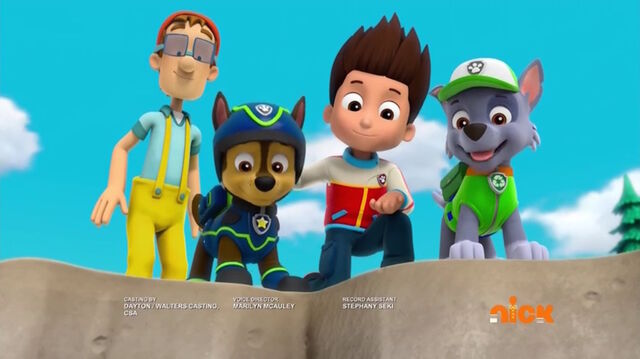 File:PAW Patrol Pups Save a Lucky Collar Cap'n Turbot Ryder Chase Rocky.jpg