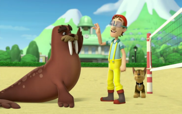 File:PAW Patrol Cap'n Turbot Captain Wally Chase Pups Save a Walrus.png
