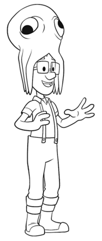 File:PAW Patrol Cap'n Turbot Captain Coloring Page.png