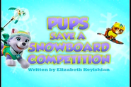 Pups Save a Snowboard Competition (SD)