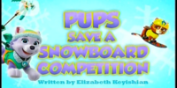 Pups Save a Snowboard Competition/Images