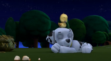 File:Marshall and Fuzzy sleeping.PNG