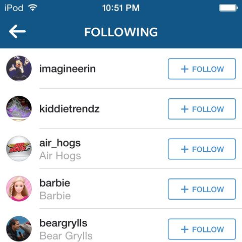 Who they follow