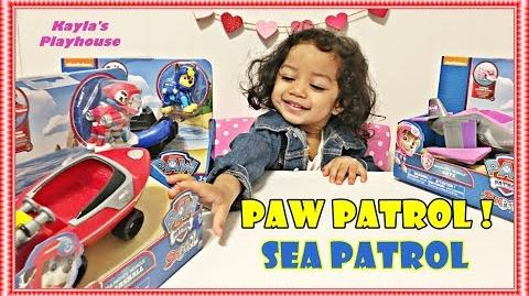 NEW Paw Patrol Sea Patrol Transforming Vehicles Toys Unboxing - Skye Chase Marshall-0