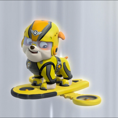 Activation of Rubble's hoverboard