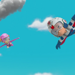 Ryder and Skye fly to save the day