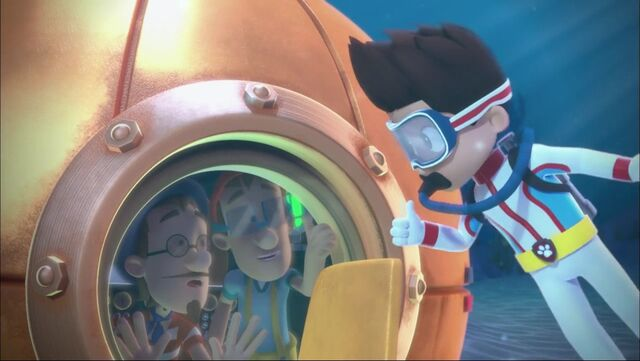 File:PAW Patrol Pups Save the Diving Bell Ryder Francois Turbot Cap'n Turbot Captain.jpg
