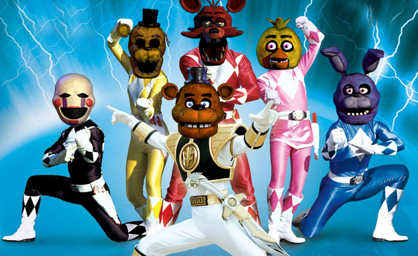 File:Mighty Morphin FNaF Rangers.png