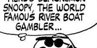 Blackjack Snoopy, the World Famous River Boat Gambler