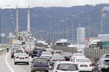 Traffic jam on Penang Bridge