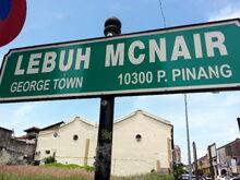 McNair Street sign, George Town, Penang