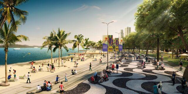 File:Gurney Wharf beach section, George Town, Penang.jpg
