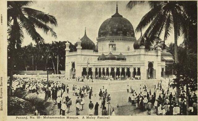 File:Kapitan Keling Mosque, George Town, Penang (1900s).JPG