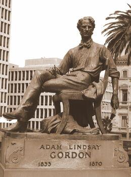 Adam Lindsay Gordon - Melbourne monument