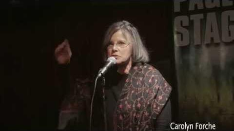 """Carolyn Forche performs """"The Colonel"""""""