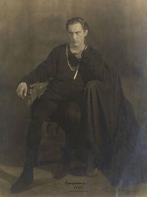 John Barrymore as Hamlet in Hamlet - Folger Digital Image Collection