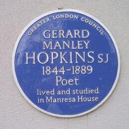 Gerard Manley Hopkins blue plaque