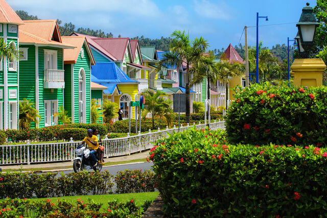 File:Colorful Dominican neighborhood in Samana.jpeg