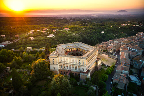 Sunrise over Villa Farnese