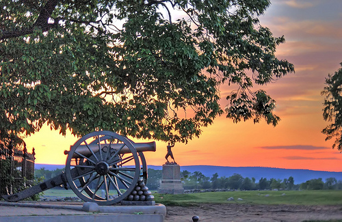 File:Sunset over cannons.jpg