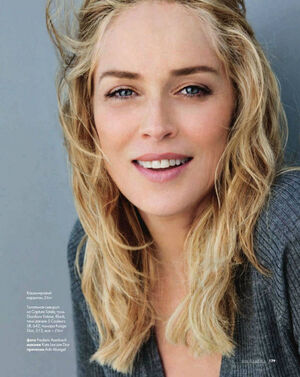 Sharon Stone for Elle Russia