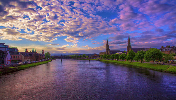 Sunset over river ness inverness scotland by raiden316-d5v9ffs