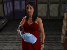 Bella Goth And Baby