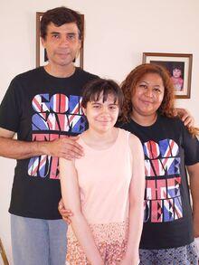 Tio Cesar Becerra and Tia Jessica Becerra and Sophia Becerra